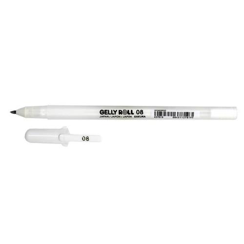 Στυλό Sakura Gelly Roll 08 λευκό 0,4 mm