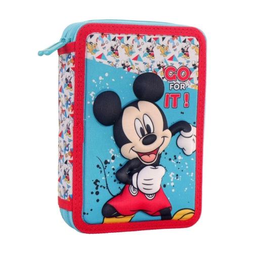 Κασετίνα φερμουάρ Diakakis διπλή γεμάτη Mickey Mouse 3D 562543