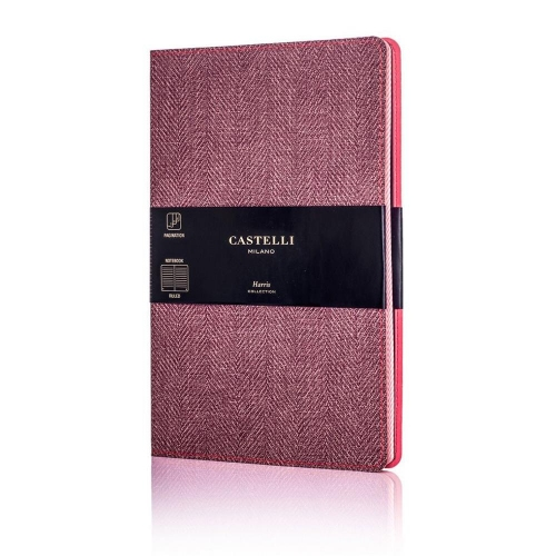 Σημειωματάριο 13x21 cm Castelli ριγέ Harris maple red