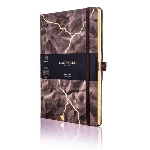 Σημειωματάριο 13x21 cm Castelli ριγέ Wabi sabi lightning