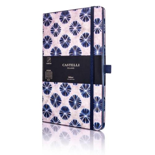 Σημειωματάριο 13x21 cm Castelli ριγέ Shibori flowers