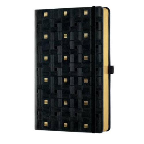 Σημειωματάριο 13x21 cm Castelli ριγέ Weaving gold