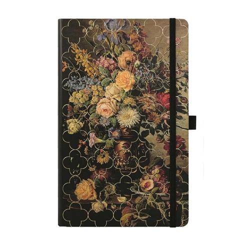 Σημειωματάριο 13x21 cm Castelli ριγέ Vintage rose