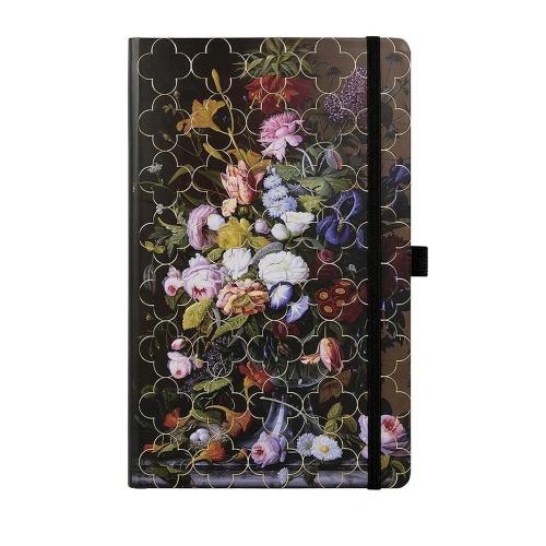Σημειωματάριο 13x21 cm Castelli ριγέ Vintage peony