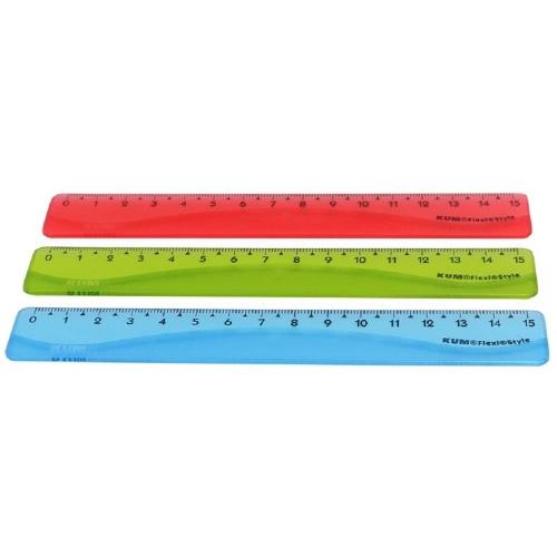 Χάρακας Kum flexy style colour 15 cm