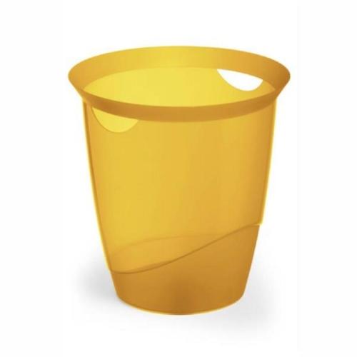 Καλάθι αχρήστων πλαστικό Durable διαφανές πορτοκαλί