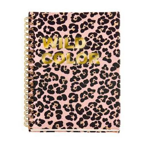 Σημειωματάριο Α5 Miquelrius 60φ σπιράλ brown leopard