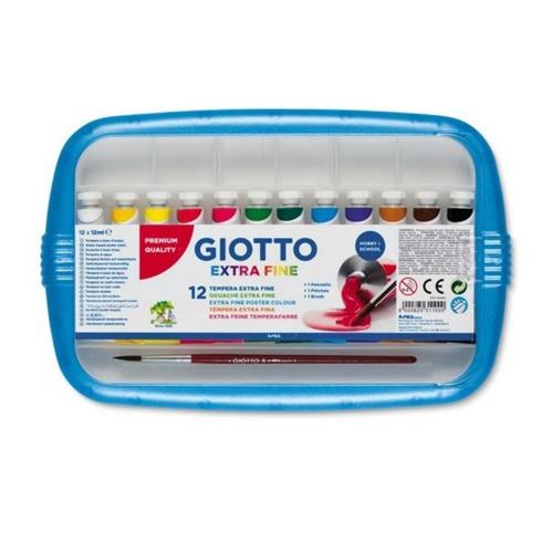 Σετ τέμπερες Giotto 12 τεμ x 12 ml κασετίνα
