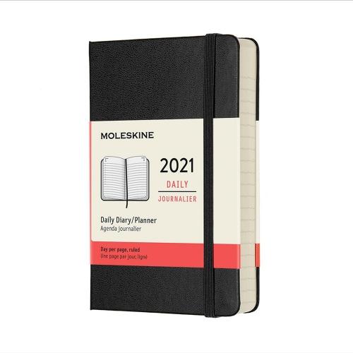 Ημερολόγιο 2021 Moleskine Pocket Daily 2021 black