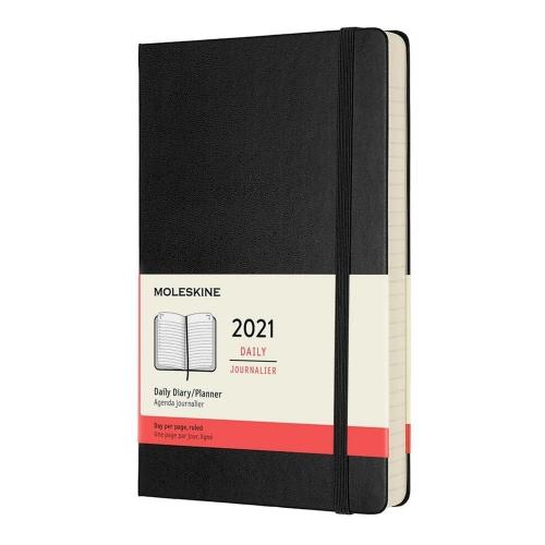 Ημερολόγιο 2021 Moleskine large Daily 2021 black
