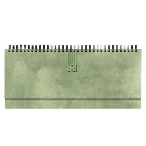 Ημερολόγιο 2021 σπιράλ 10x30 εβδομαδιαίο Wall πράσινο