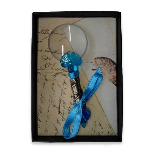 Μεγεθυντικός φακός γυάλινος Νο3 Rubinato γαλάζιο