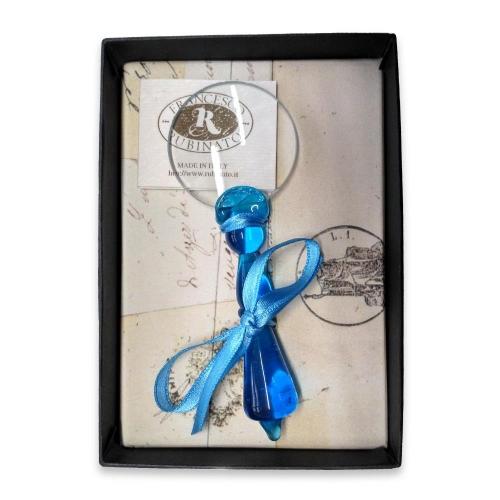 Μεγεθυντικός φακός γυάλινος Νο4 Rubinato γαλάζιο