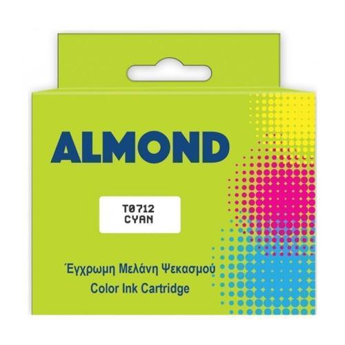 Μελάνι Almond συμβατό Epson T0712 Cyan 12 ml