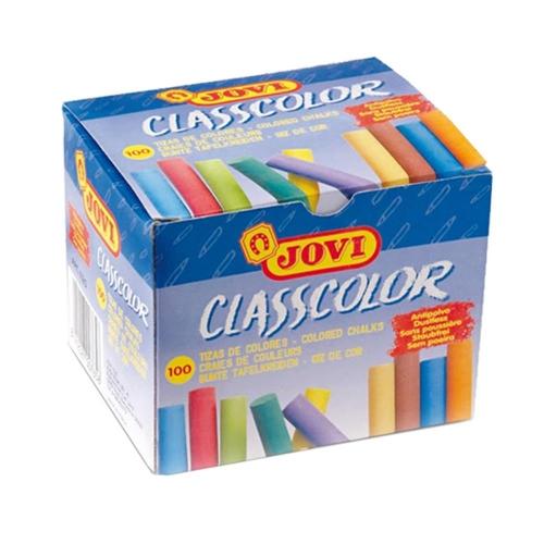 Κιμωλίες χρωματιστές Jovi 100 τεμ