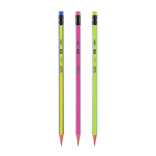 Μολύβι Deli HB ριγέ με γόμα
