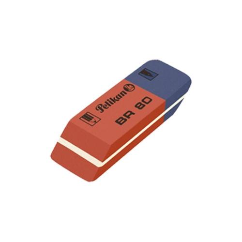 Γόμα Pelikan BR-80 μπλε-κόκκινη μικρή