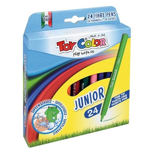 Μαρκαδόροι Toy Color Junior λεπτοί 24 τεμ.