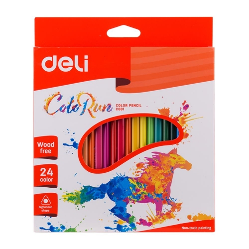 Ξυλομπογιές Deli Colorun τριγωνικές 24 τεμ.