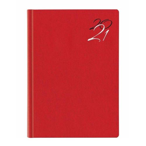 Ημερολόγιο 2021 17x24 ημερήσιο Jeans Flat κόκκινο