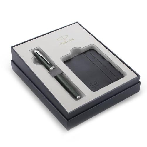 Σετ Parker IM Premium Pale Green CT πένα με θήκη για κάρτες δώρο