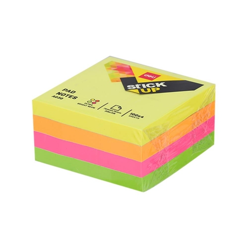 Χαρτάκια Deli Stick Up 51x51 400Φ νέον