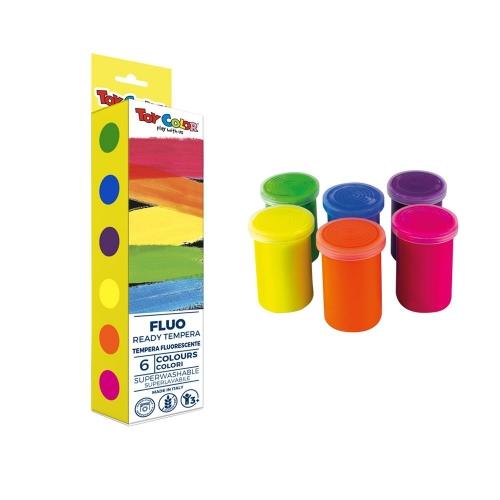 Σετ τέμπερες Toy Color φωσφοριζέ 6 x25 ml