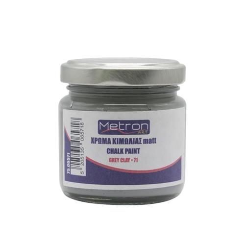 Χρώμα κιμωλίας Metron 110 ml grey clay