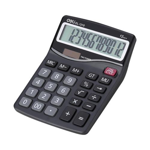 Αριθμομηχανή Deli 1210 12 ψηφίων μαύρη