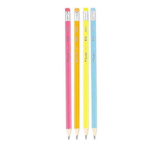 Μολύβι Deli HB χρωματιστό με γόμα