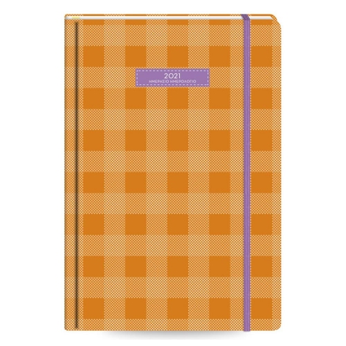 Ημερολόγιο 2021 Flexbook 11x17 plaid πορτοκαλί