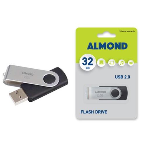 Usb Almond 32GB Twister μαύρο