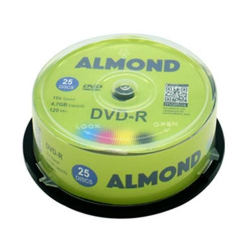 Dvd-r Almond πομπίνα 25 τεμ 4,7 gb