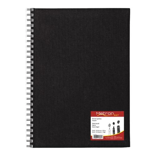 Σημειωματάριο 28x35 cm Metron 80φ σπιράλ sketchbook