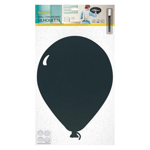 Πίνακας υγρής κιμωλίας Securit 39,6x29 cm μπαλόνι με μαρκαδόρο