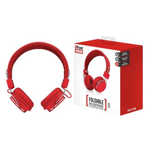 Ακουστικά ενσύρματα Trust Ziva κόκκινα