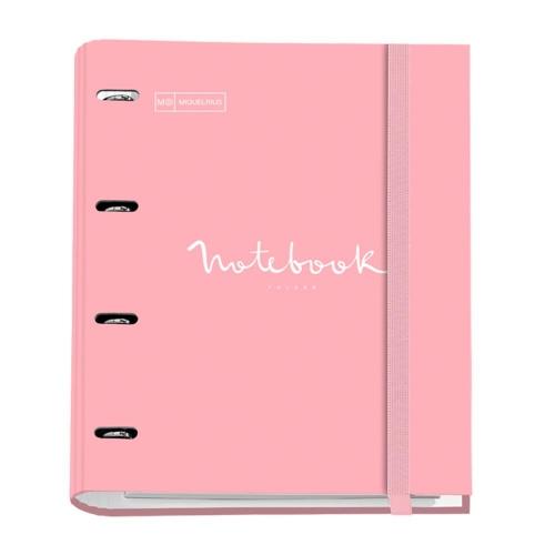 Σημειωματάριο Miquelrius Emotions A4 ροζ