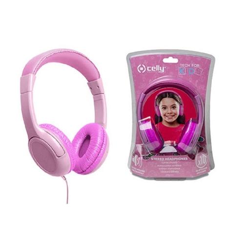 Ακουστικά ενσύρματα Celly ροζ