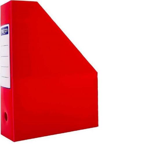 Θήκη περιοδικών πλαστική Metron κόκκινη