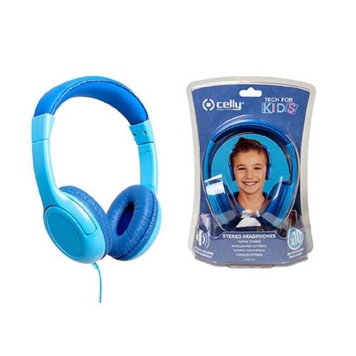 Ακουστικά ενσύρματα Celly παιδικά μπλε