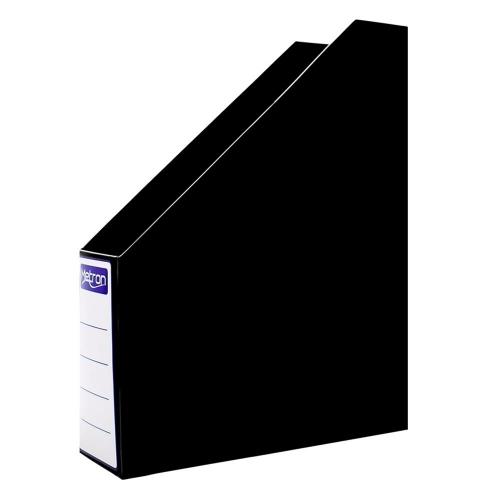 Θήκη περιοδικών πλαστική Metron μαύρη