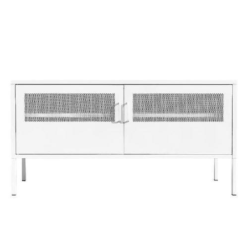 Έπιπλο tv ντουλάπι Nextdeco μεταλλικό δύο φύλλων λευκό