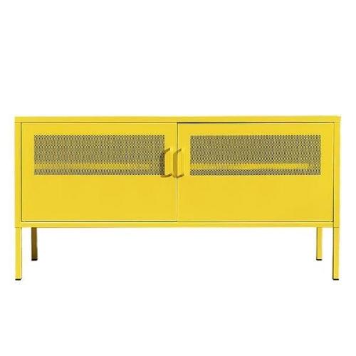 Έπιπλο tv ντουλάπι Nextdeco μεταλλικό δύο φύλλων κίτρινο