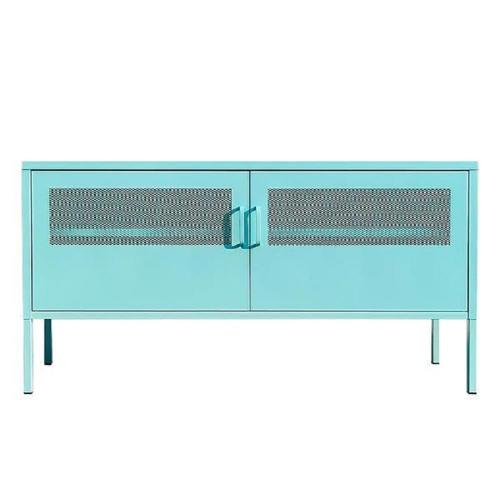 Έπιπλο tv ντουλάπι Nextdeco μεταλλικό δύο φύλλων γαλάζιο