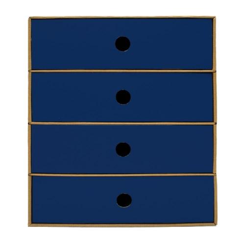 Συρταριέρα χάρτινη 4 θέσεων Metron μπλε