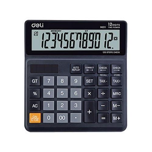 Αριθμομηχανή Deli 1120 12 ψηφίων μαύρη