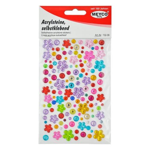 Αυτοκόλλητα Meyco λουλούδια με πετράδια 132-39