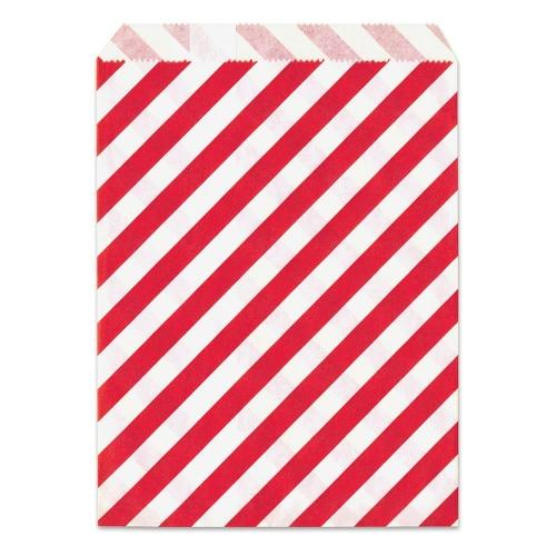 Σακουλάκι χάρτινο δώρου κόκκινο ριγέ Meyco 34831