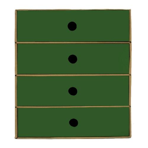 Συρταριέρα χάρτινη 4 θέσεων Metron πράσινη