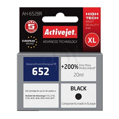Μελάνι Active Jet συμβατό HP 652 XL black 20 ml